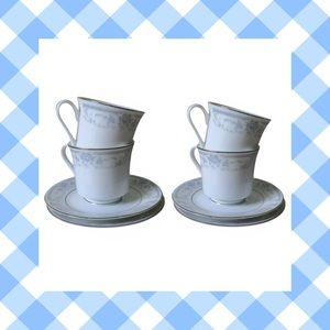 BLUE WHISPER CUP AND SAUCER SHEFFIELD FINE CHINA 4